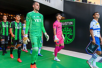 AUSTIN, TX - JUNE 19: Brad Stuver #41 of Austin FC enters the pitch before a game between San Jose Earthquakes and Austin FC at Q2 Stadium on June 19, 2021 in Austin, Texas.