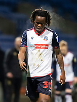 Bolton Wanderers' Peter Kioso looks on  <br /> <br /> Photographer Andrew Kearns/CameraSport<br /> <br /> The EFL Sky Bet League Two - Bolton Wanderers v Mansfield Town - Tuesday 3rd November 2020 - University of Bolton Stadium - Bolton<br /> <br /> World Copyright © 2020 CameraSport. All rights reserved. 43 Linden Ave. Countesthorpe. Leicester. England. LE8 5PG - Tel: +44 (0) 116 277 4147 - admin@camerasport.com - www.camerasport.com