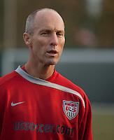 Bob Bradley. U.S. Men's National Team training at RFK Stadium  Monday October 12, 2009  in Washington, D.C.