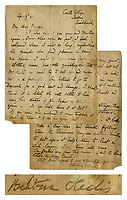BNPS.co.uk (01202 558833)<br /> Pic: NateDSanders/BNPS<br /> <br /> A defiant wartime letter by Beatrix Potter in which she states 'Germany's time will come' has emerged 78 years later.<br /> <br /> The prolific children's author penned the correspondence to friend Maggie Ellery on April 13, 1941, when Hitler had the upper hand in World War Two.<br /> <br /> She observed it was shaping up to be a long war with 'terrible fighting' as Germany 'conquer more countries to eat up'.<br /> <br /> But Potter then states while this 'helps them to last a little longer' the Allies would eventually emerge victorious.