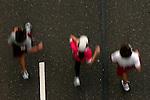 Runners, as seen from above, on Kelly Drive during the Philadelphia Marathon in Philadelphia, Pennsylvania on November 19, 2006.