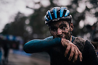 Gianni Vermeersch' (BEL/Credishop-Fristads) muddy post race face<br /> <br /> Men's Race at the X2O Herentals Cross 2020 (BEL)<br /> <br /> ©kramon