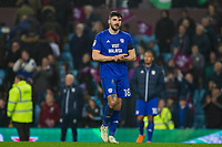 Callum Paterson of Cardiff City looks dejected as he claps the fans at full time of the Sky Bet Championship match between Aston Villa and Cardiff City at Villa Park, Birmingham, England on 10 April 2018. Photo by Mark  Hawkins / PRiME Media Images.