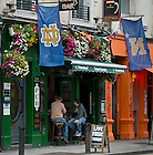 Aug. 29, 2012; Pub in Dublin, Ireland decorated with Notre Dame and Navy flags for the 2012 Emerald Isle Classic...Photo by Matt Cashore/University of Notre Dame