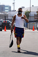 Muscular Nelly Spotted Arriving At DWTS Practice