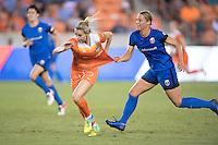Houston, TX - Sunday Sept. 25, 2016: Kealia Ohai, Merritt Mathias during a regular season National Women's Soccer League (NWSL) match between the Houston Dash and the Seattle Reign FC at BBVA Compass Stadium.