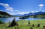 Island lake, sunshine region, Banff National Park, Alberta, Canada