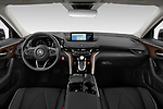 Stock photo of straight dashboard view of 2021 Acura TLX Advance-Package 4 Door Sedan Dashboard