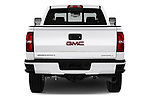 Straight rear view of a 2019 GMC Sierra 2500 Denali 4 Door Pick Up stock images