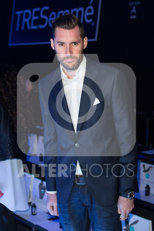 Rudy Fernandez attends Tresemme fashion show during MFS in Madrid, Spain. February 09, 2016. (ALTERPHOTOS/Victor Blanco)