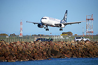An Air New Zealand flight arrives at Wellington Airport in Wellington, New Zealand on Saturday, 11 September 2021. Photo: Dave Lintott / lintottphoto.co.nz