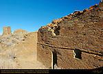 Type IV Masonry Walls, Earliest Walls and Tower, Una Vida Chacoan Great House, Anasazi Hisatsinom Ancestral Pueblo Site, Chaco Culture National Historical Park, Chaco Canyon, Nageezi, New Mexico