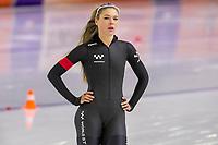 28th December 2020; Thialf Ice Stadium, Heerenveen, Netherlands; World Championship Speed Skating;  500m ladies, Jutta Leerdam during the WKKT