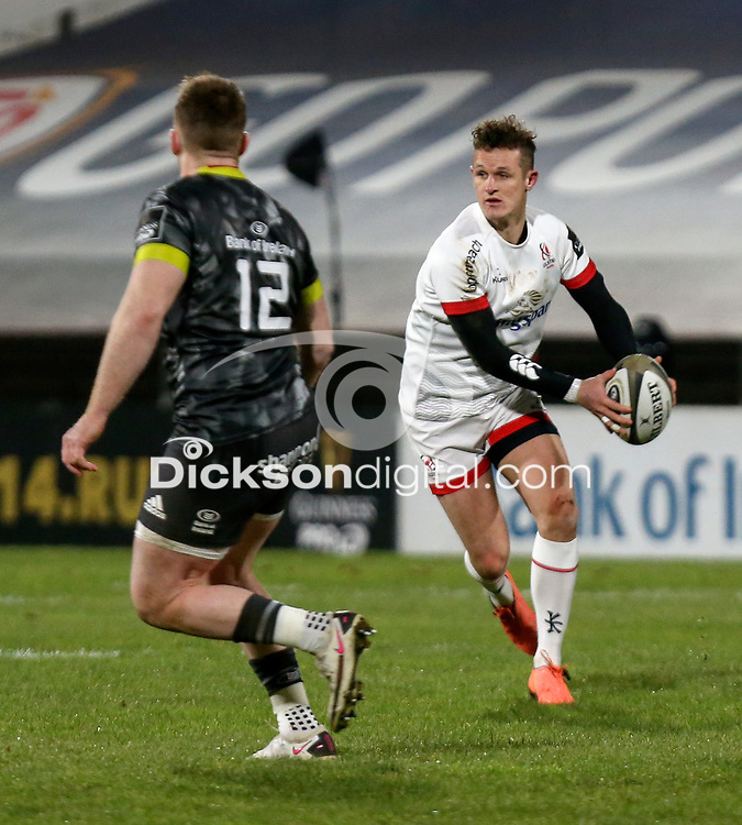 2nd January 2021 | Ulster vs Munster <br /> <br /> Billy Burns during the PRO14 Round 10 clash between Ulster Rugby and Munster Rugby at the Kingspan Stadium, Ravenhill Park, Belfast, Northern Ireland. Photo by John Dickson/Dicksondigital