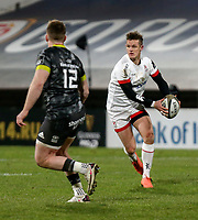 2nd January 2021   Ulster vs Munster <br /> <br /> Billy Burns during the PRO14 Round 10 clash between Ulster Rugby and Munster Rugby at the Kingspan Stadium, Ravenhill Park, Belfast, Northern Ireland. Photo by John Dickson/Dicksondigital