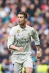 Cristiano Ronaldo of Real Madrid fights for the ball during the match Real Madrid vs RCD Espanyol, a La Liga match at the Santiago Bernabeu Stadium on 18 February 2017 in Madrid, Spain. Photo by Diego Gonzalez Souto / Power Sport Images