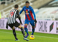 2nd February 2021; St James Park, Newcastle, Tyne and Wear, England; English Premier League Football, Newcastle United versus Crystal Palace; Patrick van Aanholt of Crystal Palace  under pressure from Javi Manquillo of Newcastle United