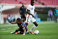 ZAPOPAN, MEXICO - MARCH 21: Benji Michel #14 of the United States moves with the ball during a game between Dominican Republic and USMNT U-23 at Estadio Akron on March 21, 2021 in Zapopan, Mexico.