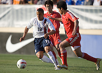Charlie Davies dribbles. The USA defeated China, 4-1, in an international friendly at Spartan Stadium, San Jose, CA on June 2, 2007.