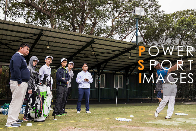 Scott Barr of Australia attends the golf clinic during the day three of UBS Hong Kong Open 2017 at the Hong Kong Golf Club on 25 November 2017, in Hong Kong, Hong Kong. Photo by Yu Chun Christopher Wong / Power Sport Images