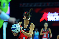 Kimioria Poi takes a pass during the ANZ Premiership netball final between Northern Mystics and Mainland Tactix at Spark Arena in Auckland, New Zealand on Sunday, 8 August 2021. Photo: Dave Lintott / lintottphoto.co.nz