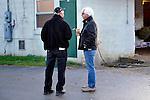 29 April 2010: Bob Baffert and Nick Zito,Thursday of Derby week, backside.