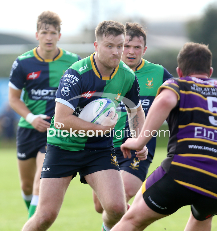Saturday 25th September 2021<br /> <br /> Eamon McAnulty during the Ulster Conference League clash between Ballynahinch 2s and Instonians at Ballymacarn Park, Ballynahinch, County Down, Northern Ireland. Photo by John Dickson/Dicksondigital