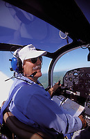 Owner of light aircraft piloting his plane.