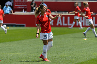 BRIDGEVIEW, IL - JUNE 5: Meredith Speck #25 of the North Carolina Courage warms up before a game between North Carolina Courage and Chicago Red Stars at SeatGeek Stadium on June 5, 2021 in Bridgeview, Illinois.