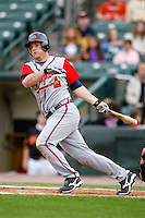 June 3, 2009:  Catcher Clint Sammons of the Gwinnett Braves at bat during a game at Frontier Field in Rochester, NY.  The Gwinnett Braves are the International League Triple-A affiliate of the Atlanta Braves.  Photo by:  Mike Janes/Four Seam Images