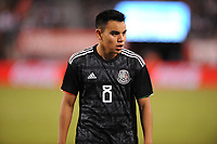 EAST RUTHERFORD, NJ - SEPTEMBER 7: Carlos Rodriguez #8 of Mexico during the game during a game between Mexico and USMNT at MetLife Stadium on September 6, 2019 in East Rutherford, New Jersey.