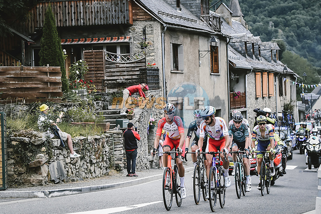Anthony Perez (FRA) Cofidis and Anthony Turgis (FRA) TotalEnergies lead the breakaway during Stage 17 of the 2021 Tour de France, running 178.4km from Muret to Saint-Lary-Soulan Col du Portet, France. 14th July 2021.  <br /> Picture: A.S.O./Pauline Ballet | Cyclefile<br /> <br /> All photos usage must carry mandatory copyright credit (© Cyclefile | A.S.O./Pauline Ballet)