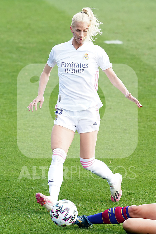 First official match and first classic in the history of women's Real Madrid.<br /> Real Madrid's Sofia Jakobsson during Spanish Female League match. October 4,2020. (ALTERPHOTOS/Acero)