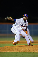 Kingsport Mets relief pitcher Gabriel Feliz (40) in action against the Elizabethton Twins at Hunter Wright Stadium on July 9, 2015 in Kingsport, Tennessee.  The Twins defeated the Mets 9-7 in 11 innings. (Brian Westerholt/Four Seam Images)