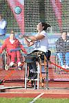 IPC European Athletics Championship 2014<br /> Daniela Todorova (BUL)<br /> Women's discus throw F55<br /> Swansea University<br /> 19.08.14<br /> ©Steve Pope-SPORTINGWALES