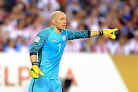 Philadelphia, PA - June 11, 2016: USA GK Brad Guzan (1) during a Copa America Centenario Group A match between United States (USA) and Paraguay (PAR) at Lincoln Financial Field.