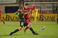 FC GULLEGEM - SPARTA PETEGEM :<br /> Jarne Jodts (R) in strijd met Pieter De Wulf (L)<br /> <br /> Foto VDB / Bart Vandenbroucke
