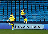 31st October 2020; The Den, Bermondsey, London, England; English Championship Football, Millwall Football Club versus Huddersfield Town; Josh Koroma of Huddersfield Town celebrates after scoring his sides 1st goal in the 18th minute to make it 0-1
