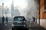 Game Over Rome - Il giorno della Rabbia e della Follia Rome 15th October 2011<br /> The Day of the Anger<br /> European Demonstration started peaceful and ended up with guerrilla scenes. Black Bloc attacked the demonstrators and Police. Rome was on fire for a few hours