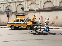 In the streets of Kolkata, West Bengal India
