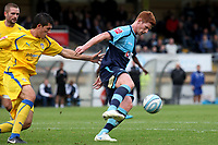 Matt Harrold of Wycombe Wanderers controls the ball under pressure from the Colchester defence during Wycombe Wanderers vs Colchester United, Coca Cola League Division One Football at Adams Park on 17th October 2009