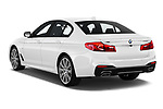 Car pictures of rear three quarter view of 2019 BMW 5-Series M-Sport 4 Door Sedan Angular Rear