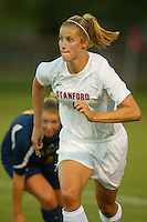 22 August 2005: Allison Falk during a scrimmage against UC Davis at Maloney Field in Stanford, CA.