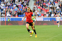 HARRISON, NJ - MARCH 08: Irene Paredes #4 of Spain during a game between Spain and USWNT at Red Bull Arena on March 08, 2020 in Harrison, New Jersey.