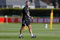 Pictured: Manager Ryan Giggs. Monday 31 August 2020<br /> Re: Wales football training ahead of their game against Finland, at the Vale Resort in Hensol, Wales, UK.