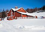 Edgevilla Farm in winter located near Hamden in Delaware County, New York