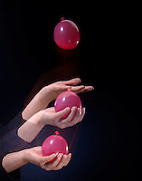 WATER BALLOON CATCH- IMPULSE MOMENTUM THEORY<br /> (Variations Available)<br /> Slowing a Fast Moving Object<br /> Pulling your  arm in as you catch the balloon will lengthen the collision time and reduce the force on the balloon to prevent bursting it. If the duration of collision is increased, the force of impact is decreased.