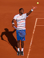 France, Paris, 04.06.2014. Tennis, French Open, Roland Garros,  Gael Monfils (FRA)<br /> Photo:Tennisimages/Henk Koster