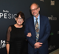 """NEW YORK CITY - OCTOBER 4: Ann Dowd and Larry Arancio attends the red carpet premiere of Hulu's """"DOPESICK"""" at the Museum of Modern Art on October 4, 2021 in New York City. . (Photo by Frank Micelotta/Hulu/PictureGroup)"""