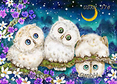 Kayomi, CUTE ANIMALS, LUSTIGE TIERE, ANIMALITOS DIVERTIDOS, paintings+++++,USKH376,#ac#, EVERYDAY ,puzzle,puzzles, owl, owls